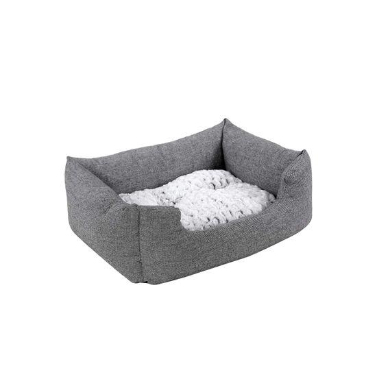 Hundebett mit Wendekissen 80 cm Grau
