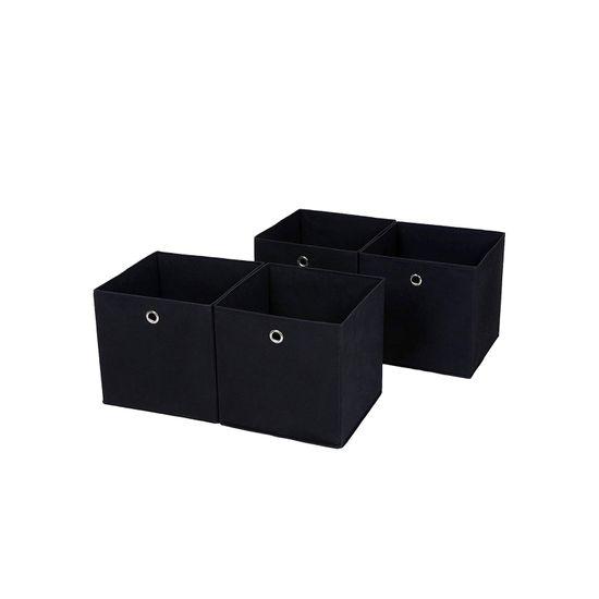 Aufbewahrungsboxen 4 Stück Schwarz
